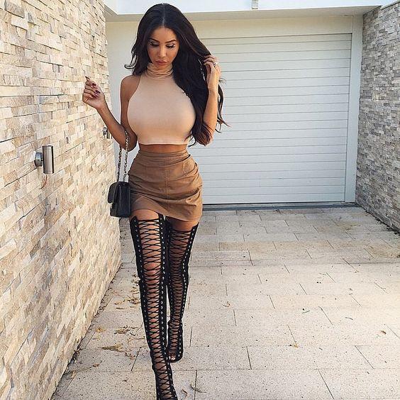 eb87012db thigh-high-boots-on-mini-skirt - Beauty Geek